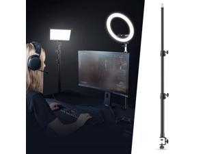 Neewer Tabletop Light Stand Clip Stand with 1/4inch Screw for Ring Light and LED Light, Aluminum Alloy, 5kg/11 Lbs Load Capacity, Adjustable 21.6-47.2inches/55-120CM for Live Streaming, Video Shooting