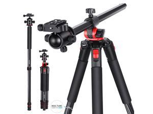 Neewer Camera Tripod Monopod Carbon Fiber with Rotatable Center Column - Portable Lightweight, 75 inches/191 Centimeters, 360 Degree Ball Head for DSLR Camera Camcorder up to 26.5 pounds