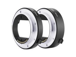 Neewer Metal Auto Focus AF Macro Extension Tube Set 10mm,16mm for Sony NEX E-Mount Camera Such as a9 a7 a7II a7III a7RIII a7RII a7SII a6000 a6300 a6500