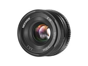 Neewer 35mm F1.2 Large Aperture Prime APS-C Aluminum Lens Compatible with Sony E Mount Mirrorless Cameras A6500 A6300 A6100 A6000 A5100 A5000 A9 NEX 3 NEX 3N NEX 5 NEX 5T NEX 5R NEX 6 7