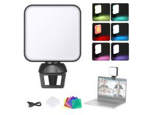 Neewer W64 Video Conference Lighting Kit with Clamp and Color Filters for Smartphone/Tablet/Laptop, Dimmable 2500K-6500K CRI 95+ Zoom Calls Lighting for Remote Working/Live Streaming/Selfie