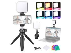 Neewer Key Light Video Conference Lighting Kit with Suction Cup, Tripod, Color Filter & Phone Holder for Remote Working/Zoom Calls/Self Broadcasting/Live Streaming/Microsoft Teams/Fill Light/Game