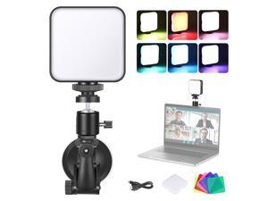 Neewer Key Light Video Conference Lighting Kit for Computer with Suction Cup, Color Filter & Ball Head for Video Conferencing/Remote Working/Zoom Calls/Self Broadcasting/Live Streaming/Game