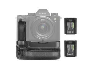 Neewer Vertical Battery Grip Compatible with Sony A7IV A9II A7RIV Cameras, Replacement for Sony VG-C4EM with 2 Packs 7.2v 2280mAh 16.4Wh Rechargeable Li-ion Battery