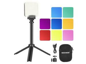Neewer Key Light LED Video Light with Extendable Tripod Stand, Video Conference Lighting for Self Broadcasting/Live Streaming/Remote Working/Zoom Calls/Online Meeting/Photography/YouTube Video/Game