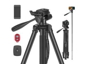 """Neewer Camera Tripod, 2-in-1 Aluminum Alloy Tripod Monopod, Max. 72.8""""""""/185 cm with 3-Way Swivel Pan Head, Phone Clip, Wireless Selfie   Remote and Carrying Bag for DSLR Camera, DV Video Camcorder"""