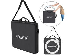 Neewer Photography Carrying Bag Protective Case Compatible with 18 inches Camera Ring Light - 21x21 inches/52x52 Centimeters, Durable Nylon, Light Weight (Black)