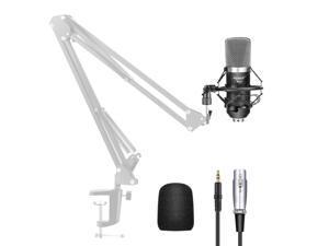 Neewer NW-700 Professional Studio Broadcasting & Recording Condenser Microphone (1)NW-700 Condenser Microphone (1)Metal Microphone Shock Mount (1)Ball-type Anti-wind Foam Ca