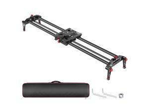 Neewer Camera Slider, 31.5 inches/80 centimeters Carbon Fiber Track Rail Slider Video Stabilizer, Parallax and Panoramic Slide, Angle Follow Focus, for Smartphone DSLR Cameras, Load up to 11 lbs