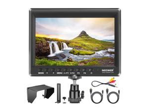 Neewer F100 7 Inch Camera Field Monitor HD Video Assist Slim IPS 1280x800 4K HDMI Input 1080p with Sunshade and Mini Ball Head for DSLR Cameras, Handheld Stabilizer, Film Video Making Rig