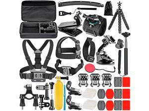 Neewer 50-In-1 Action Camera Accessory Kit, Compatible with GoPro Hero10/Hero9/Hero8/Hero7, GoPro Max, GoPro Fusion, Insta360, DJI Osmo Action, AKASO, APEMAN, Campark, SJCAM