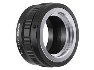 Neewer Lens Mount Adapter for M42 Lens to Sony NEX E-Mount Camera,fits Sony A7 A7S/A7SII A7R/A7RII A7II A3000 A6000 A6300 NEX-3 NEX-3C NEX-5 NEX-5C NEX-5N NEX-5R NEX-6 NEX-7 NEX-VG10/20