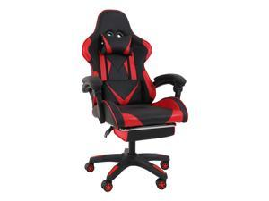 Flexispot Ergonomic Home Office Gaming Chair Computer Chair Adjustable Backrest with Head Pillow and Lumbar, Tilt E-Sports Chair with Footrest