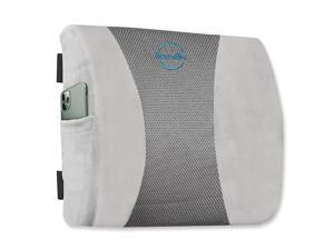 Back Cushion 100 Memory Foam Lumbar Support Pillow for Car Computer and Desk Chairs Relieves Muscle Tension Lower Back Pain and Improves Posture