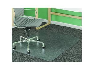 SuperMat Frequent Use Chair Mat Medium Pile Carpet Beveled 46 x 60 Clear