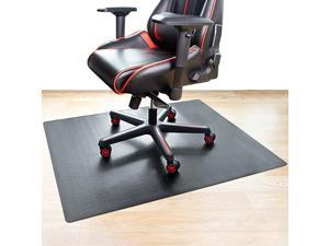 Chair Mat Hard Floor Mat for Desk 47quot x 35quot MultiPurpose Desk Chair Mat for Hardwood Floors NonToxic PVC Protector Floor Mat for Home Updated Version Black