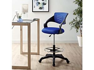 Thrive Drafting Chair Tall Office Chair for Adjustable Standing Desks in Blue