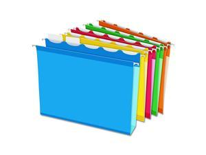 ReadyTab Extra Capacity Reinforced Hanging File Folders Letter Size Assorted Colors 5 Tab 20BX 42700