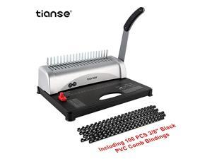 Machine 21Holes 450 Sheets Comb Machine with Starter Kit 100 PCS 38 Comb Spines Comb Machine Perfect for Letter Size A4 A5 or Smaller Sizes Office Documents