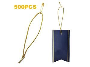45quot 500Pcs Hang Tag Fasteners Polyester Strings Safety Pin and Barb Easy and Fast to Attach Golden