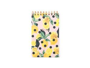Stationery To Do Pad Notebook Planner with Check Box List Lemon Zest