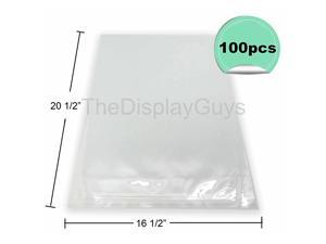 100 Pcs 16 12x 20 12 Clear Self Adhesive Plastic Bags for 16x20 Picture Photo Framing Mats