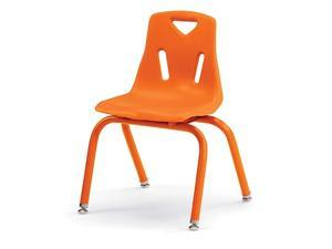 JontiCraft 8124JC1114 Berries Stacking Chair with PowderCoated Legs 14quot Height Orange