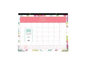 Day Designer for Blue Sky 20202021 Academic Year Monthly Desk Pad Calendar Trim Tape Binding TwoHole Punched 22quot x 17quot Peyton White