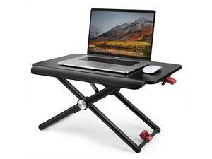 Standing Desk Converter TaoTronics Stand Up Desk Sit Stand Desk Adujstable 5 Height Levels Riser Sitting Standing Workstation for Notebook Computer Black