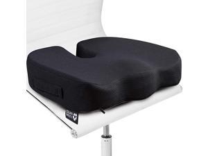 5 STARS UNITED Seat Cushion Pillow for Office Chair 2 Pack 100 Memory Foam Firm Coccyx Pad Best for Adults 150220 lbs Tailbone Sciatica Lower Back Pain Relief