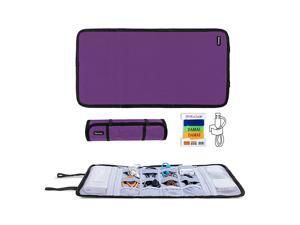 Travel Cable Organizer Cord BagUSB Drive Shuttle CaseElectronics Accessory Organizer Purple