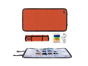 Travel Cable Organizer Cord BagUSB Drive Shuttle CaseElectronics Accessory Organizer Orange
