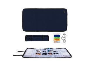 Travel Cable Organizer Cord BagUSB Drive Shuttle CaseElectronics Accessory Organizer Dark Blue