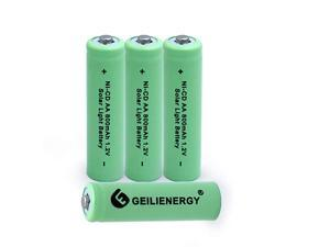 Solar Light AA NiCD 800mAh Rechargeable BatteriesAA Rechargeable Batteries for Solar Lights Solar Lamp4 PCS