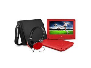9 Portable DVD Player with Matching Headphones and Bag EPD909rd