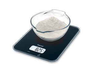 Multi-Function Digital Kitchen Scale, Food Scale, Digital Display with Tare Function, Precise, Measures in g, oz, lb: oz, ml, fl.oz with Auto-Off, KS19, Black