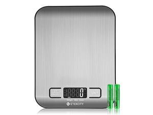 Food Kitchen Scale, Digital Grams and Ounces for Weight Loss, Baking, Cooking, Keto and Meal Prep, Small, 304 Stainless Steel