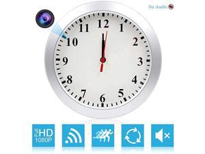 HD 1080P WiFi Spy Camera 5000mAh Battery Wall Desk Clock Hidden Camera Alarm Clock for Home Security Nanny Cam Support iOSAndroidPC Remote Realtime Video and Motion Detection Alarm