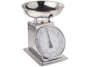 Stainless Steel Analog Kitchen Scale, 11 Lb. Capacity, Silver