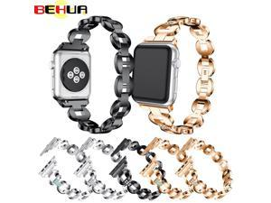 Steel strap for Apple watch Series 5 4 3 2 1 44 mm 38mm band 42mm 40mm link bracelet watchband with Connector watch belt Straps