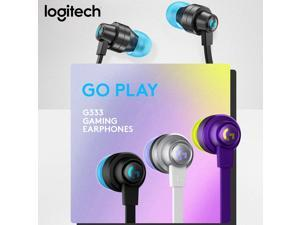 Logitech G333 3.5mm Wired In-Ear Gaming Earphone with Microphone USB-C Adapter for Laptop PC Game Headset Headphones Accessories
