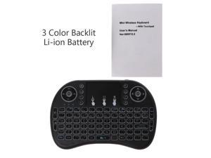 Rechargeable 3 Backlits 2.4GHz Wireless i8 Keyboard Touchpad Fly Air Mouse