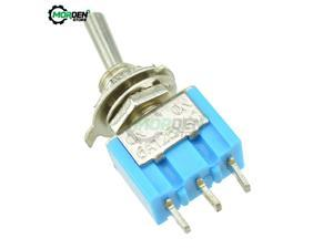 MTS-102 DIY Toggle Switch ON-OFF-ON / ON-OFF 3Pin 3 Position Latching AC 125V/6A 250V/3A Power Button Switch Car