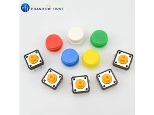12x12x7.3 mm Tactile Switches Yellow Square Push Button Tact Switch 12*12*7.3 mm Micro Switches