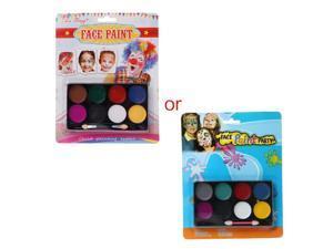 8 Colors Body Face Paint Kit Art Makeup Painting Pigment Fancy Dress Up Party