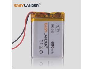 3.7V lithium battery 503040 600mAh tachograph GPS navigator MP3 polymer batteries digital video recorder LS430W dod