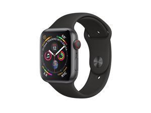 Apple Watch Series 4 - 44mm - Space Gray / Black - 4G Cellular + GPS - Sport Band - Smartwatch - Grade C