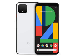 Google Pixel 4 G020I - 64GB - Clearly White - Fully Unlocked - Android Smartphone - Grade A (LCD Shadow)