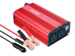 Buywhat 500W Power Inverter DC 12V to 110V AC Car Charger Converter with 4.8A Dual USB Ports