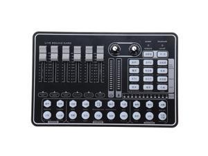 GAX-H9 Audio Mixer Sound Card USB External Computer PC Mobile Phone Live Audio Microphone Sound Card